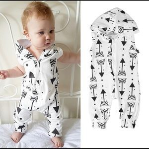 3-6 Month Hooded One Piece With Arrows